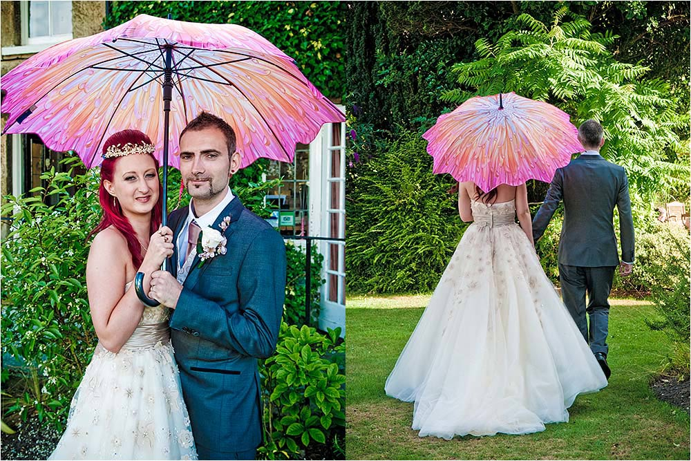 Georgia and Kevin under a parasol