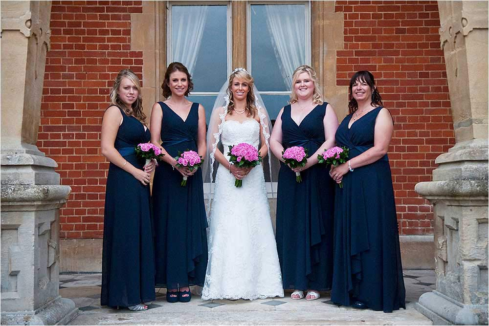 Rebecca with her bridesmaids