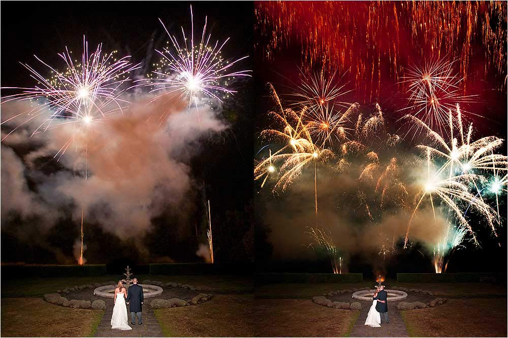Incredible fireworks display during the evening reception